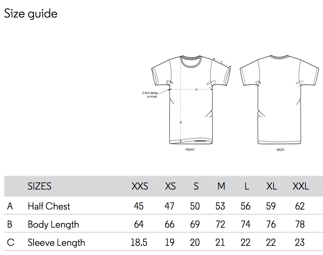t-shirt size chart swatt club solowattaggio