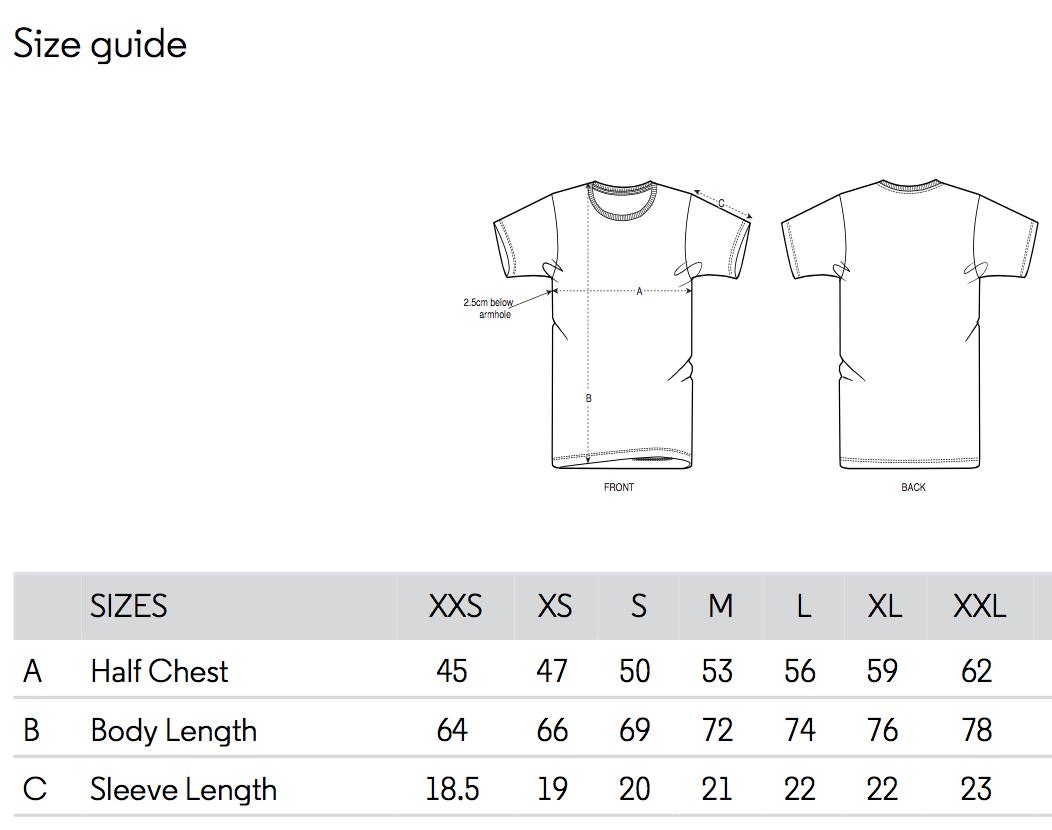 t-shirt size chart swatt club solowattaggio
