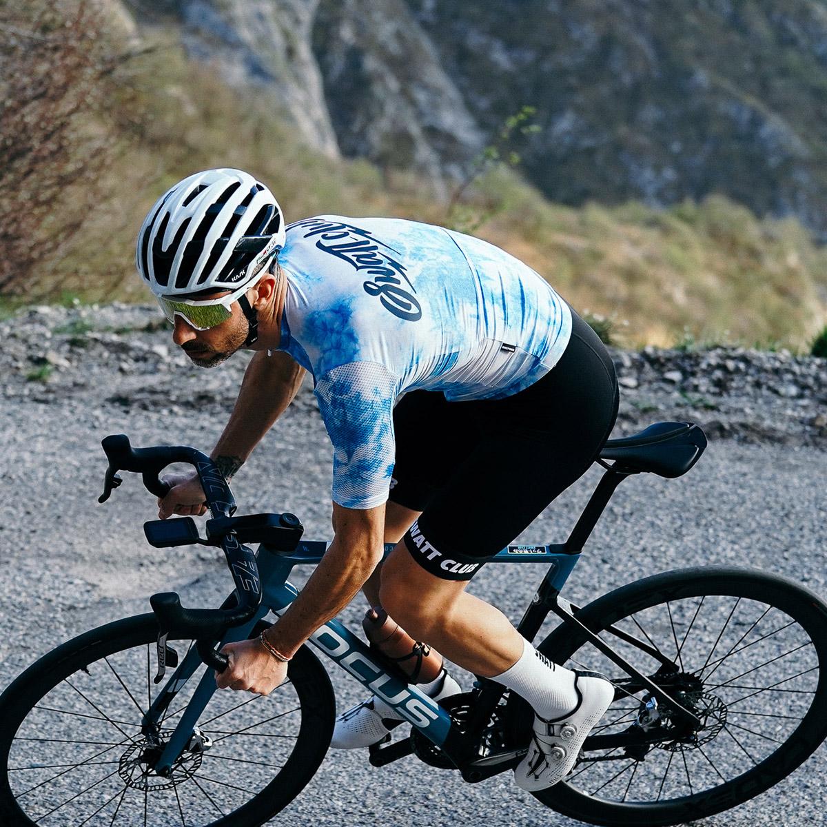 tiedye swatt club cycling jersey