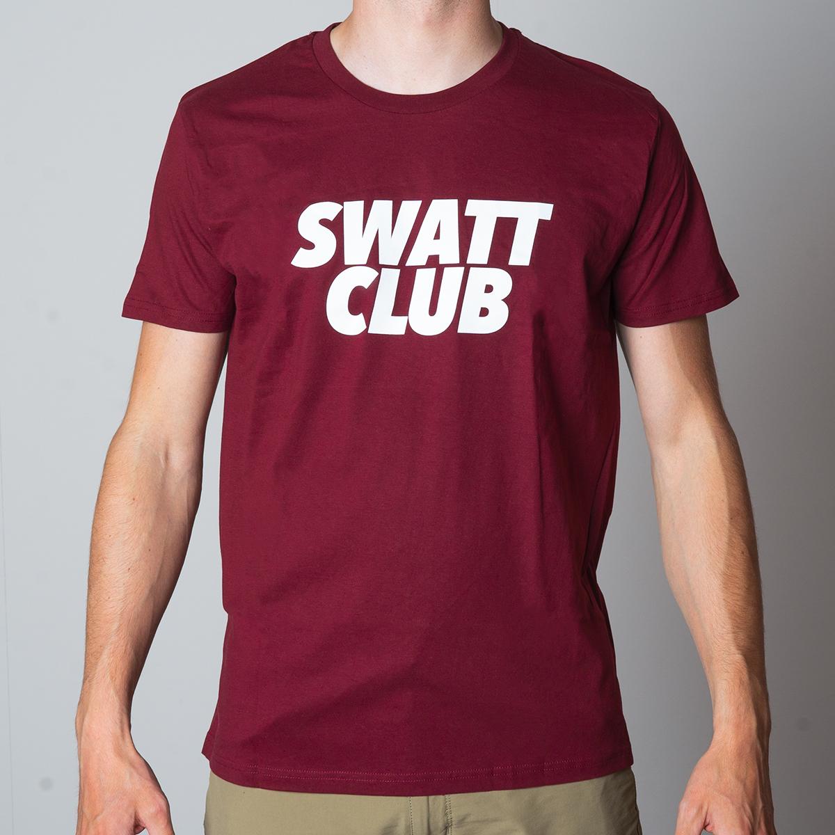 Burgundy t-shirt Swatt Club
